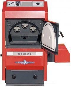 Heizung ATMOS Pelletkessel P-Serie ohne Holznotbetrieb P21 inklusive A25