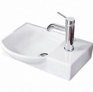 LANZET 7139912 K3 Gäste-WC Keramik-Waschtisch weiß links