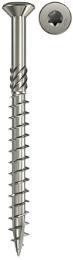 FISCHER Terrassenschraube 5 mm Senkkopf A2 TG Innenstern TX20