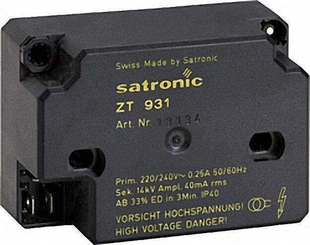 Hochfrequenzzündeinrichtung Satronic ZT 931 sek. Anschluss 4