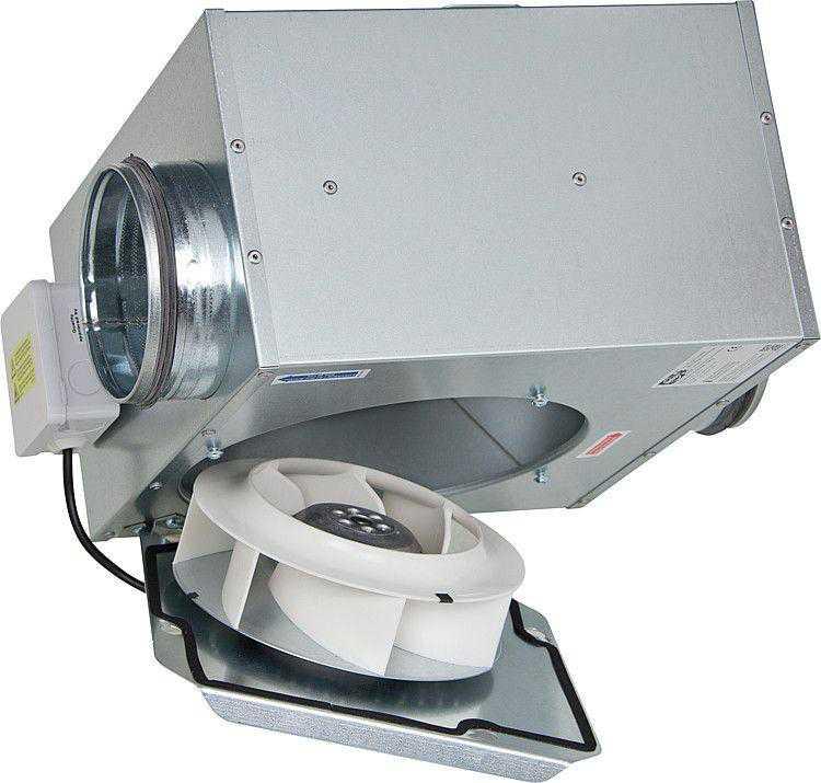 HELIOS Flach-Radialventilator schallgeschützt SlimVent SVS, DN 125-200
