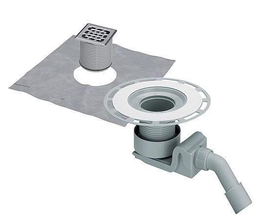 Ablaufgarnitur 4927 in DN40xDN50, Kunststoff grau