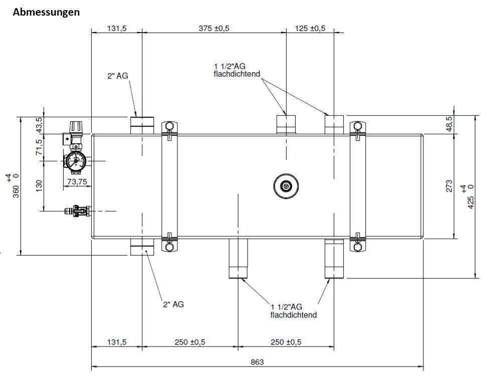 367720 DDV40 Doppelt Differenzdruckloser Verteiler