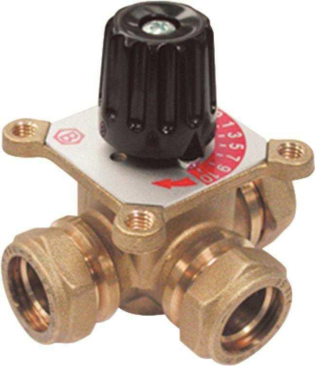 3-Wegemischer Easyflow Mix 475 d=22mm Klemmverschluss, KV2,