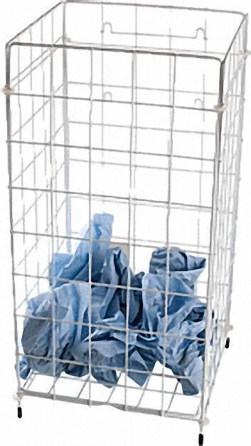 Handtuch-Sammelkorb kunststoffbes. Drahtgeflecht weiß