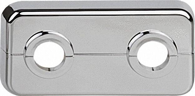 Klapprosetten, doppelt ABS, verchromt, VPE 10 LxBxH= 95 x 50 x 7mm, D=