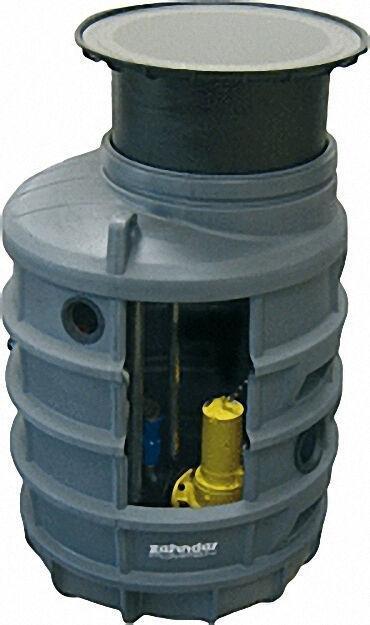komplettpumpenstation AE1200 im Kunststoffschacht FPS-Basis 1200mm / D