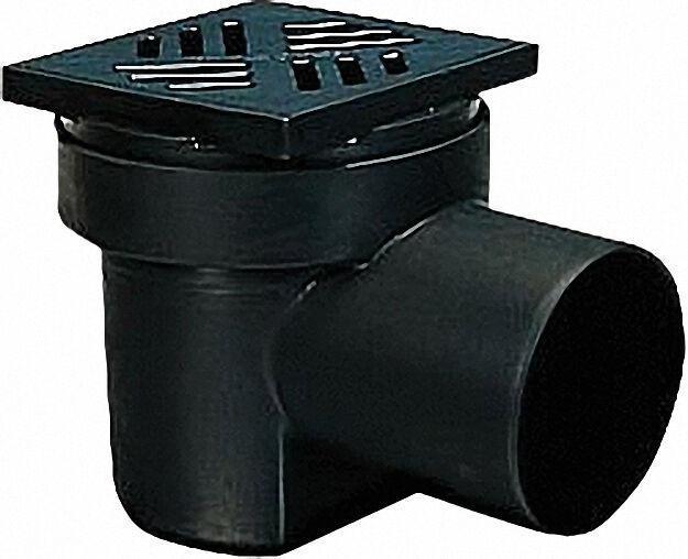 Kellerablauf 36501 Farbe schwarz, aus PP, DN 100