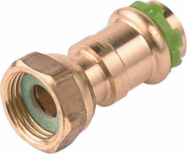 Kupfer Pressfitting Halbe Verschraubung mit Press- tülle, 15mm x 1/2''