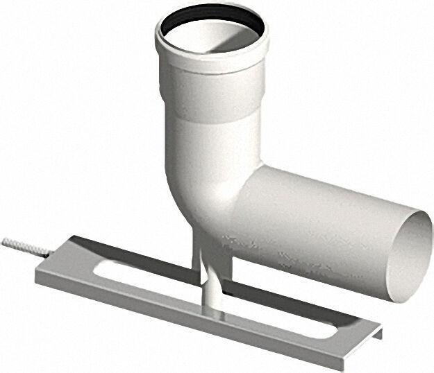 Kunststoff-Abgassystem Schachteinführung mit Auflager DN 80