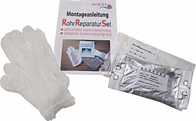 Rohrreparatur-Set - Set 2: Schutzbandage 50x3600mm, Schutzhandsch