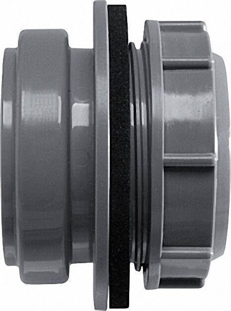 Anschraub-Muffe DN 50, grau, für Kunststoff-Reinigungs-Deckel