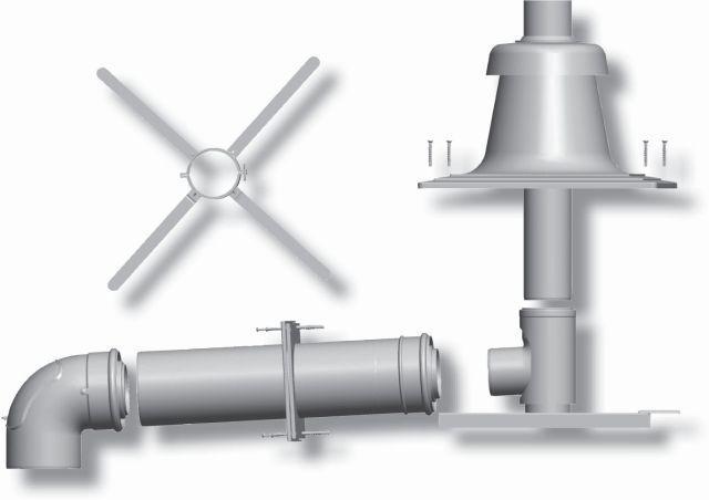 2651497Z06 Paket für Abgasleitung mit Schachteinbau DN 80/125,10