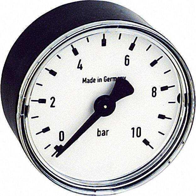 RF Manometer 50 axial 0-6 bar, Anschluss 1/4'' axial (hinten)