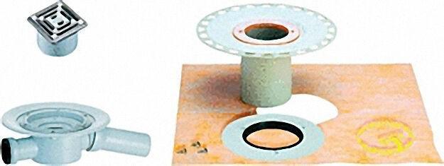 Dünnbett-Ablauf-Set DS 15 senkrecht passend zu DN 50, DN 70, DN 150