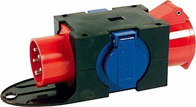 CEE-Kompaktverteiler CEE Stecker + Kupplung 16A + 2x Schuko-Steckdosen