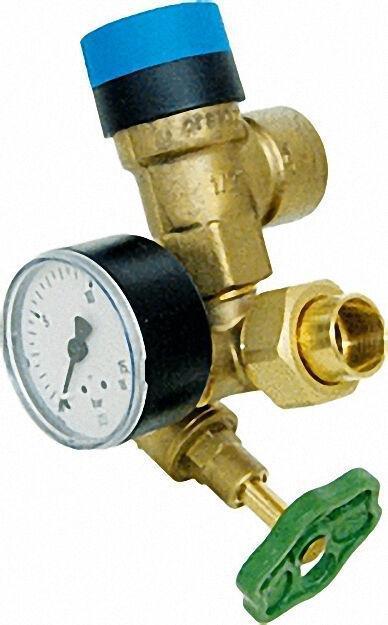 Boiler-Sicherheitsgruppe DN15 mit Manometer 0-16 bar und Sicherheitsve