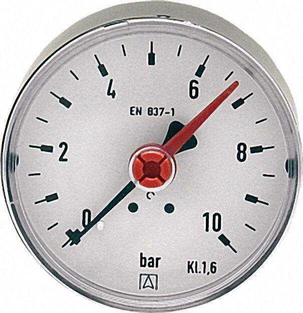 Manometer Solar RF 63 D211 Solar 63mm G 1/4 B axial 0/10 bar