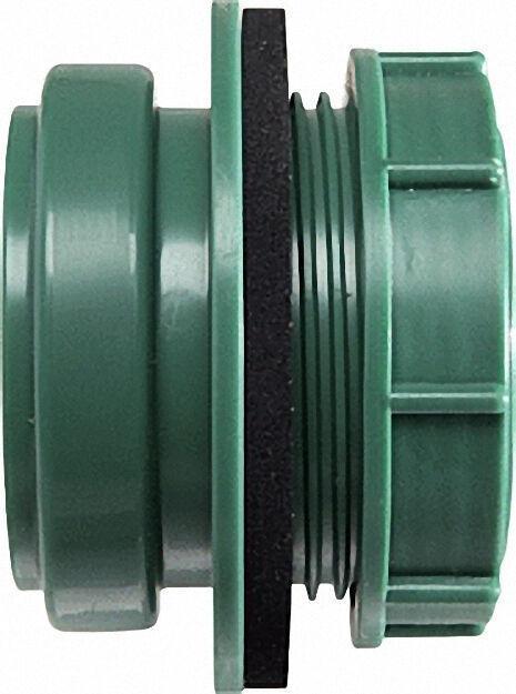 Anschraub-Muffe DN 50, grün, für Kunststoff-Reinigungs-Deckel