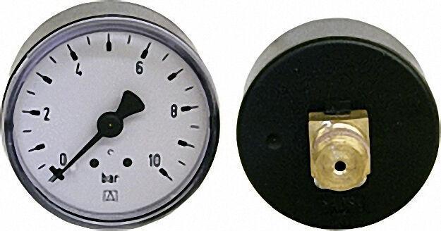RF-Manometer 50 axial 0-10 bar, Anschluss 1/4'' axial (hinten)