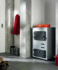 Heizung Holz-Pelletkessel VIESSMANN VL1B007 Vitoligno 100-S 20 kW Heizkessel für Scheitholz