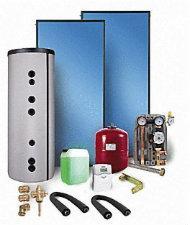 Solarpakete und Kollektoren Typ SX Solarpaket Typ WS 4 mit Solarspeicher 500L