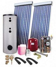 Solarpakete und Vakuum-Röhrenkollektoren Solarpaket 10,25 m² Typ WS 5-PR 2,09 mit Solarspeicher 500L