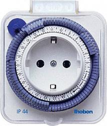THEBEN Timer 26 IP 44 weiß 24 Stunden spritzwassergeschützt Zeitschaltuhr