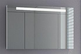ARCOM Spiegelschrank mit eingebauter Neonleuchte 3-türig 120x74x16 cm