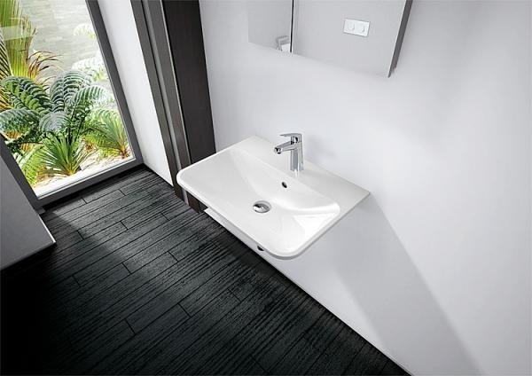 EVENES Design-Waschtisch ANNIKA aus Mineralguss 600x148x450 mm
