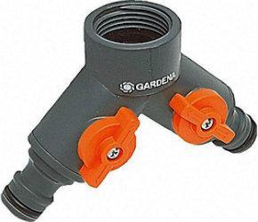 GARDENA 2-Wege-Ventil 1 Zoll für dreiviertel Zoll Hahn
