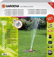 GARDENA Komplett-Set mit Vielflächen-Versenkregner AquaContour automatic