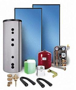 Solarpaket Typ WS 2 mit Solarspeicher 300 Liter