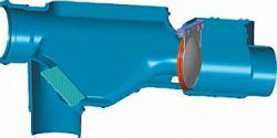 Wechselsprungfilter DN 100 von 50-300 Quadratmeter Dachfläche inklusive Rückstauklappe