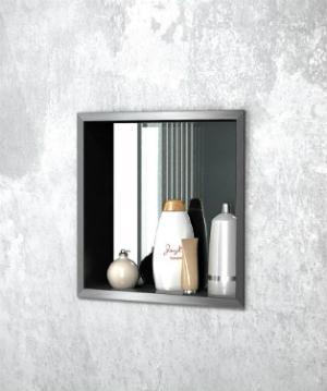 Wandnische mit Spiegelrückwand