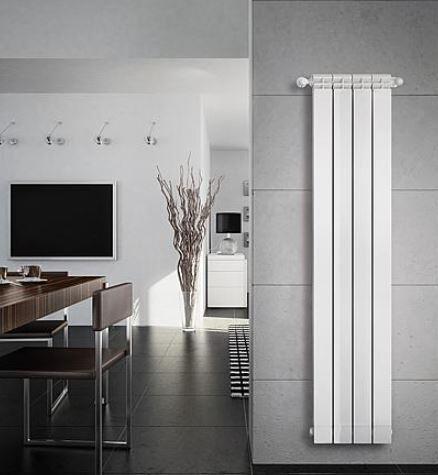Aluminium-Heizkoerper sind gut in das Gesamtdesign der Raeume integrierbar