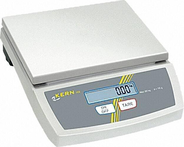 KERN & SOHN TISCHWAAGE FCE 15K5 MAX. 15 KG, EINTEILUNG 5 G GESAMTGEWICHT: 3, 5 KG