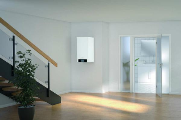 VIESSMANN Vitodens 300-W, Gastherme, 25 kW, Paket, solare TW-Erwärmung, Zubehör, B3HF054