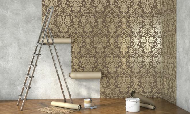 richtig tapezieren ist nicht schwer meinhausshop magazin. Black Bedroom Furniture Sets. Home Design Ideas