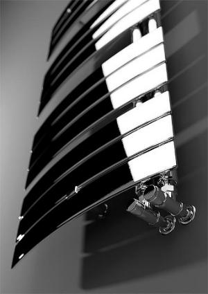 "Evenes Design-Handtuch-Heizkörper ""Sail"" | Chrom, elektrisch"