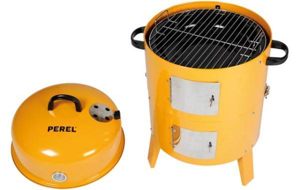 GRILL-RAEUCHEROFEN-ORANGE-BB100200-Holzkohlegrill-Smoker