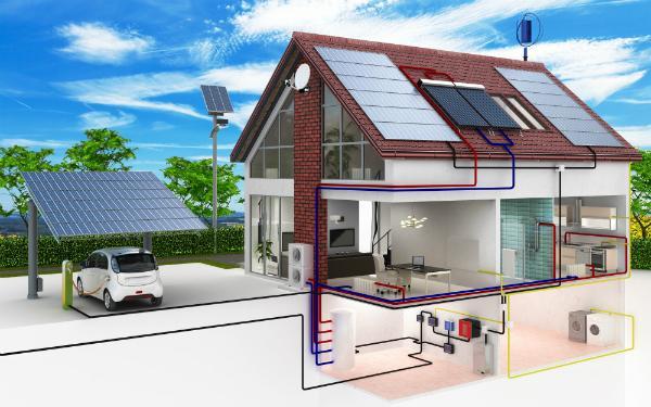 Funktionsweise einer Wärmepumpe in einem Niedrigenergiehaus