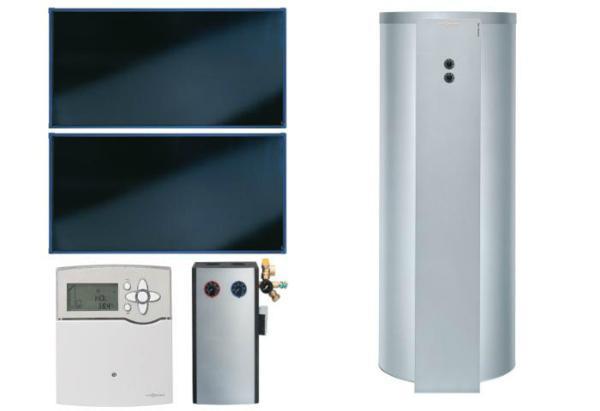 VIESSMANN SK05762 PAKET VITOSOL 200-FM SH2F 4,6M² TW SD1 VITOCELL 100-U 300 L, CVUB