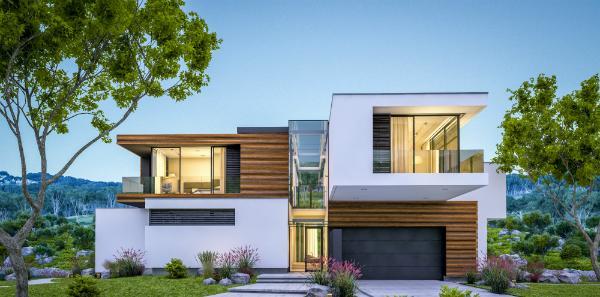 Bepflanzte Wände und Dächer unterstützen das Raumklima innerhalb des Hauses
