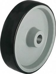 BLICKLE-Raeder-mit-Polyurethan-Laufbelag-Tragfaehigkeit-200kg-Rad-d-100mm-Achsloch-8mm