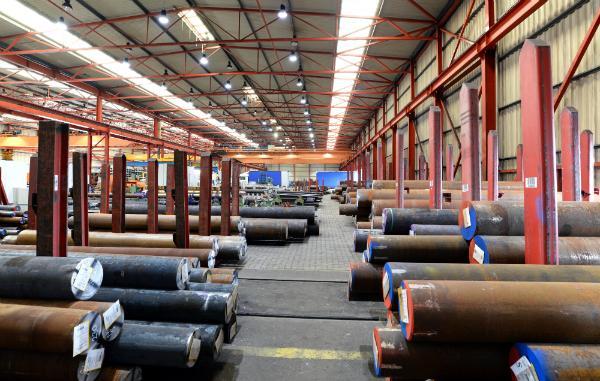 Lagerung von Stahlprodukten