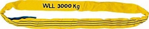 RUNDSCHLINGE AUS POLYESTER DIN 61360/EN 1492-2 DOPPELMANTEL GELB = 3 T / LÄNGE 2 M