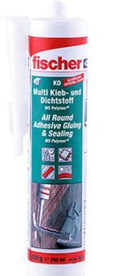 FISCHER 503317 MULTI KLEB- UND DICHTSTOFF KD-290 GLASKLAR 290ML VPE 1 STÜCK
