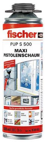 FISCHER 539163 MAXI-PISTOLENSCHAUM PUP S 500 43 LITER WÄRMEDÄMMSCHAUM