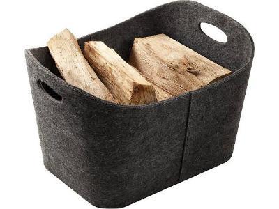 Filz-Holztrage-in-anthrazit-handgearbeitet-H-350-x-B-590-x-T-480mm